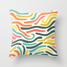 Ribbons colorful pattern Throw Pillow