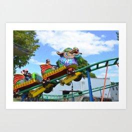 Chinese Dragon ride  5 Art Print