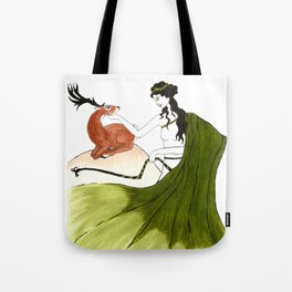 The Lady Artemis, The Goddess of the Hunt Tote Bag