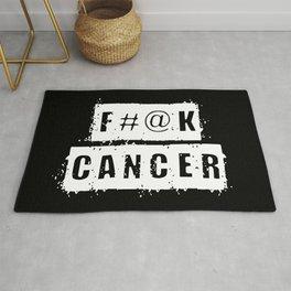 F@#K Cancer (inverse) Rug
