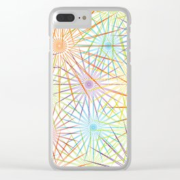 Colorful Christmas snowflakes pattern- holiday season gifts- Happy new year gifts Clear iPhone Case