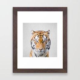 Tiger - Colorful Framed Art Print