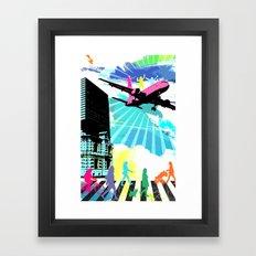 City Cloud Framed Art Print