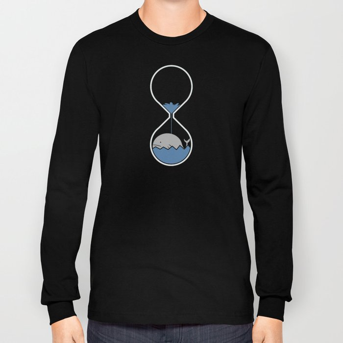 whale hourglass Long Sleeve T-shirt