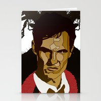 true detective Stationery Cards featuring True Detective by Vito Fabrizio Brugnola