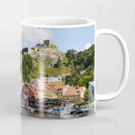 Halden harbour and Fredriksten fortress in Norway Coffee Mug