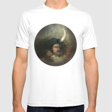 new moon revolution Mens Fitted Tee White MEDIUM