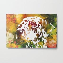 Watercolor Dalmatian Dog Metal Print
