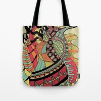 carousel Tote Bags featuring Carousel by Tuky Waingan
