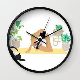 Keep Growing - Yoga Girl Power Wall Clock