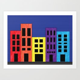 Brilliant Buildings Art Print