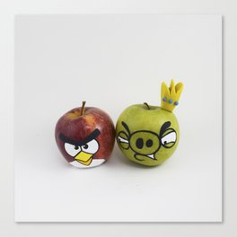 Angry Apples Canvas Print