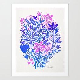 Garden – Indigo Palette Art Print