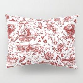 "Zelda ""Hero of Time"" Toile Pattern - Goron's Ruby Pillow Sham"