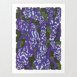 Wandering 43: color variation 1 Art Print