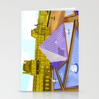 bonjour Stationery Cards featuring Bonjour by Hola Vicky