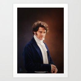 Mr Darcy Art Print