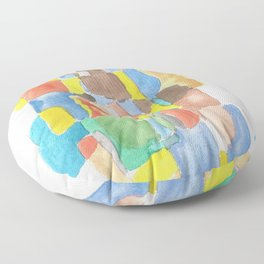 171013 Invaded Space 17 |abstract shapes art design |abstract shapes art design colour Floor Pillow