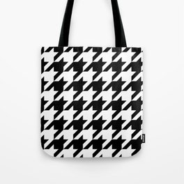 Houndstooth Pattern 12x12 Tote Bag