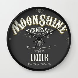 Moonshine Tennessee Wall Clock