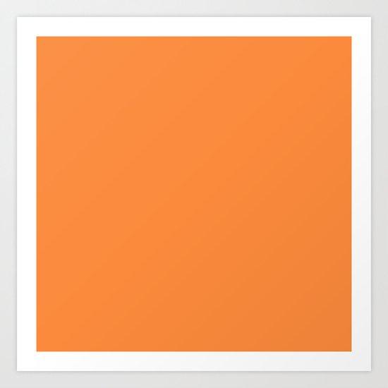 Orange Lollipop Art Print