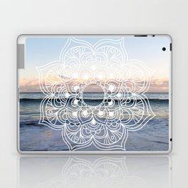 Flower shell mandala - shoreline Laptop & iPad Skin