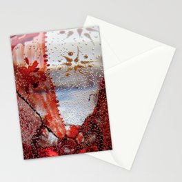 Vibration in red Stationery Cards