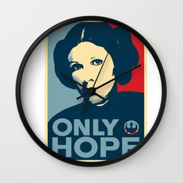 Leia's Only Hope Wall Clock