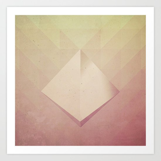 Suspended Pyramid Art Print