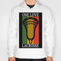 lacrosse Hoodies featuring Lacrosse OneLove by YouGotThat.com