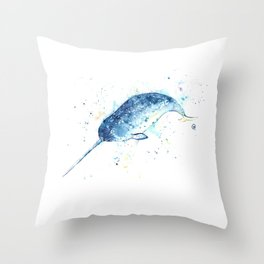 Narwhal - Unicorn of the Sea Throw Pillow