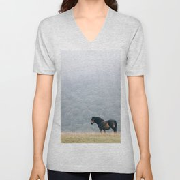 Black Beauty Unisex V-Neck