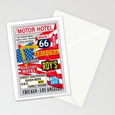 Road 66 and Motel Vintage Print Poster Decoration Stationery Cards