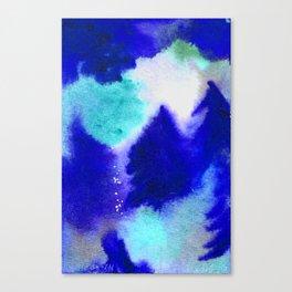 Forest Blanket - Blue Hues Canvas Print