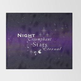 Night Triumphant - Stars Eternal (dark) Throw Blanket