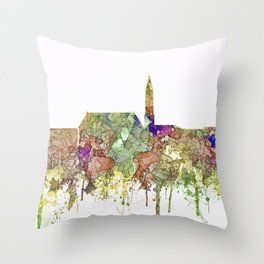 Cheyenne,Wyoming Skyline SG - Faded Glory Throw Pillow