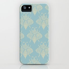 Blue Bees iPhone Case