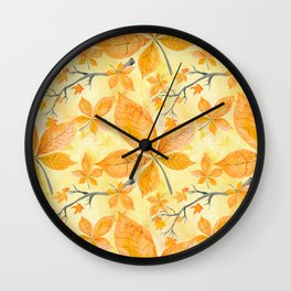 Autumn leaves #11 Wall Clock