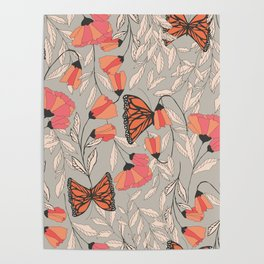 Monarch garden 001 Poster