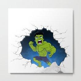 Chibi Hulk Smash! Metal Print