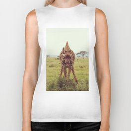 Giraffe Wants to Know Biker Tank