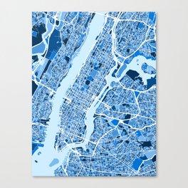 New York City Street Map Canvas Print