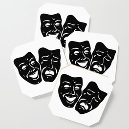 Theater Masks of Comedy and Tragedy Coaster