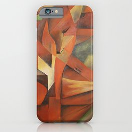 Foxes - Homage to Franz Marc (1913) iPhone Case