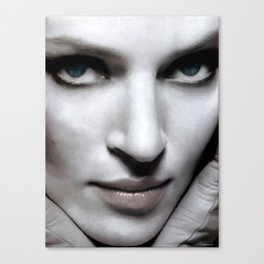 Uma Thurman Portrait Canvas Print