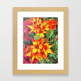 Flower Power Lily Framed Art Print