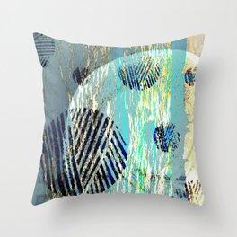 NL 6 17 Abstract Blue Grunge Ocean Throw Pillow