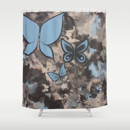 Butterflies for Mom Shower Curtain