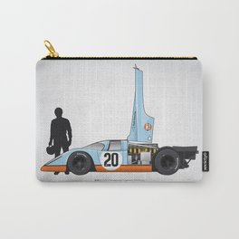 Outline Series N.º4, Steve McQueen, Porsche 917, Le Mans movie 1971 Carry-All Pouch