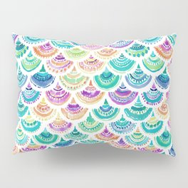 RAINBOW MERMACITA Colorful Mermaid Scales Pillow Sham